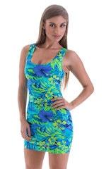 Micro Mini Dress in Tahitian Rainforest 1