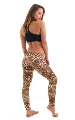Womens Super Low Rise Fitness Leggings in Jungle Kat 3
