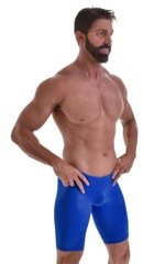 Swim-Dive Competition Watersports Shorts in Wet Look Royal Blue 4