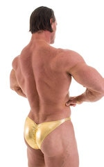 Posing Suit - Fitted Pouch - Puckered Back in Metallic Gold 6