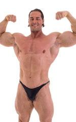 Bodybuilder Posing Suit - Narrow Back in Wet Look Black 4