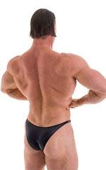 Bodybuilder Posing Suit - Narrow Back in Wet Look Black 6