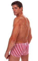Square Cut - Fitted - Watersports Swim Trunks in Stars and Stripes 3