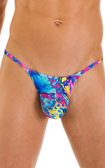 Stuffit Pouch G String Swimsuit in Mind Vision Rainbow 4
