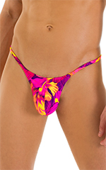 Stuffit Pouch G String Swimsuit in Tahitian Sunset 4
