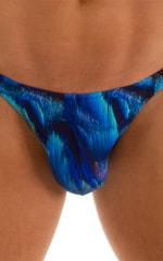 Fitted Bikini Bathing Suit in Digital Rush Blue 3