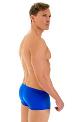 Extreme Low Square Cut Swim Trunks in Royal Blue 3