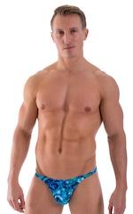 Smooth Front Bikini Bathing Suit in Liquid Bahamas 1