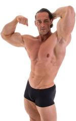 Posing NPC-IFBB Physique Low Cut Short in Shiny Black 4