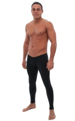 Mens SUPER Low Leggings Tights in Black cotton/lycra 1