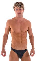 Bikini-Brief Swimsuit in Wet Look Black 4