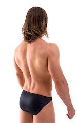 Bikini-Brief Swimsuit in Wet Look Black 3