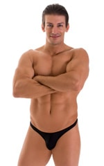 Stuffit Pouch Thong in Black 1