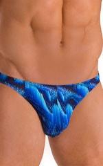 Bikini Brief Swimsuit in Digital Rush Blue 4