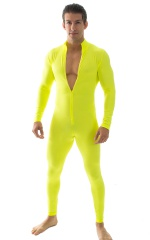 Full Bodysuit Suit for men in Chartreuse 4
