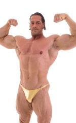 Posing Suit - Competition Bikini Cut in Liquid Gold 1