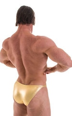 Posing Suit - Competition Bikini Cut in Liquid Gold 3