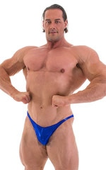 Posing Suit - Competition Bikini Cut in Metallic Royal Blue 4