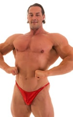 Posing Suit - Competition Bikini Cut in Metallic Volcano Red 1