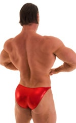 Posing Suit - Competition Bikini Cut in Metallic Volcano Red 3
