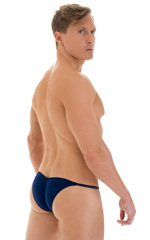 Micro Pouch - Puckered RIO Back in Navy Blue 3