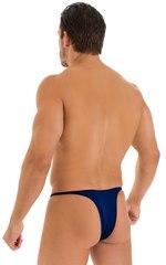 Sunseeker Micro Pouch Half Back Bikini in Navy Blue 1