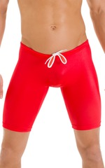 Swim-Dive Competition Watersports Shorts in Wet Look Red 4