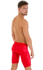 Swim-Dive Competition Watersports Shorts in Wet Look Red 3