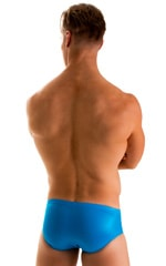 Pouch Brief Swimsuit in Wet Look Turquoise 2