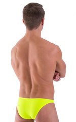 Large Pouch Swimsuit Bikini in Semi Sheer ThinSKINZ Chartreuse 3