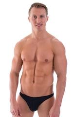 Enhancing Pouch Swim Brief in Black 1