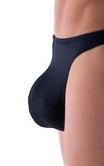 Comfort Pouch - Bulge Enhancing - Half Back Bikini in Black 4