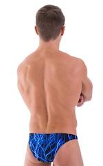 Comfort Pouch - Bulge Enhancing - Half Back Bikini in Laser Blue Lightning 3