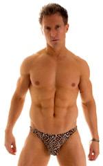 Enhancing Pouch Swim Brief in Super ThinSKINZ Cheeta 1