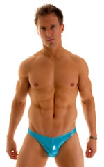 Enhancing Pouch Swim Brief in Ice Karma Turquoise Shimmer 1
