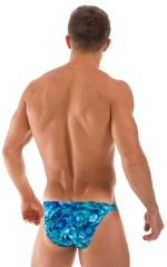Fitted Bikini Bathing Suit in Liquid Bahamas 3