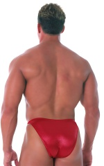 Fitted Bikini Bathing Suit in Wet Look Red 3