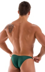 Posing Suit - Fitted Pouch - Puckered Back in Hunter Green 3