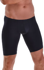 Fitted Pouch Lycra Shorts in Black 4