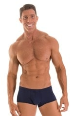 Fitted Pouch - Boxer - Swim Trunks in ThinSKINZ Navy 1
