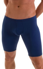 Fitted Pouch Lycra Shorts in Navy Blue 5