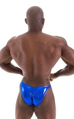 Fitted Pouch - Puckered Back - Posing Suit in Metallic Royal Blue 6