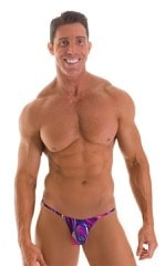 Stuffit Pouch G String Swimsuit in Gravity Wave 1