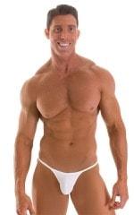 Stuffit Pouch G String Swimsuit in Semi SHEER White PowerNet nylon/lycra 1