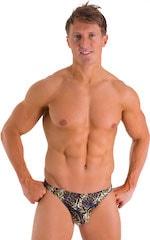 Bikini Brief Swimsuit in Super ThinSKINZ Coiled Python 1