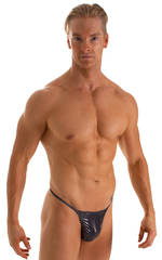 Y Back G String Thong in Black Ice 1