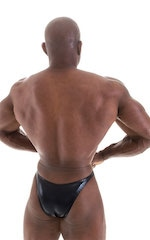 Bodybuilder Posing Suit - Narrow Back in Metallic Black 3