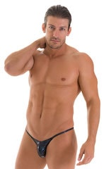 Stuffit Pouch Half Back Tanning Swimsuit in NightSparkle 1