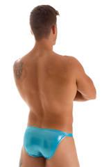 Stuffit Pouch Bikini Swimsuit in Ice Karma Aqua Shimmer 2