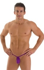 G String Swimsuit - Adjustable Pouch in ThinSKINZ Grape  1